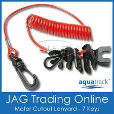 AQUATRACK UNIVERSAL OUTBOARD BOAT MOTOR KILL SWITCH KEYS & LANYARD-Boat/Outboard