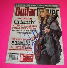 ORIANTHI MICHAEL JACKSON SIGNED MAGAZINE W/ EXACT PROOF