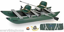 GREEN SEA EAGLE 375 FC DELUXE PACKAGE INFLATABLE PONTOON FISHING BOAT CATAMARAN