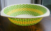 Vintage S & S Arts & Crafts Plastic Bowl Yellow & Green