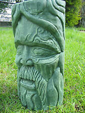 GREEN MAN - TREE SPIRIT GARDEN ORNAMENT - HEAVY STONE