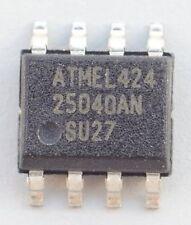 Lot of 2 Atmel AT25040AN-10SU-2.7 2.7-5.5V 4Kbit Serial SPI EEPROM