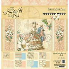 "Graphic 45 Gilded Lily.Paper Pad 24 Double-Sided sheets 12"" x 12"" Scrapbook"
