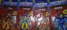 Masters Of The Universe Lot Of 4 Action Figures He-Man Skeletor Evelyn and teela