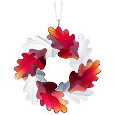 Swarovski Crystal Wreath Christmas Holiday Ornament, Leaves 5464866