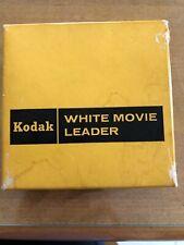 Kodak 16mm White Movie Film Leader 100ft Roll In Original Box Never Used