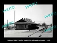 OLD HISTORIC PHOTO OF COWPENS SOUTH CAROLINA, RAILROAD DEPOT STATION c1950s