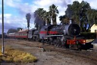 PHOTO  SOUTH AFRICAN RAILWAYS A PAIR OF 19B CLASS 4-8-2S AT GRAAFF REINET WHERE