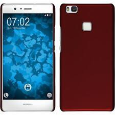 Funda Rígida Huawei P9 Lite - goma rojo protector de pantalla