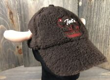 Ted's Montana Grill Adjustable Hat Cap Buffalo Horns Furry Unique Promo