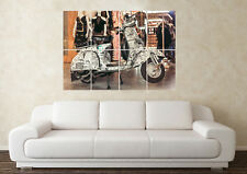 Large Vespa Scooter Moped Classic Motorbike Wall Poster Art Picture Print