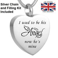 Angel Now He's Mine Urn Pendant Ashes Necklace Funeral Memorial Jewellery UK