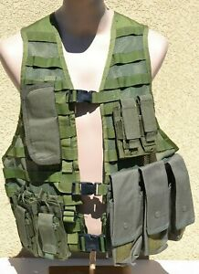 US CAMOUFLAGE MOLLE LOAD BEARING TACTICAL VEST SPECIALTY DEFENSE SYSTEMS