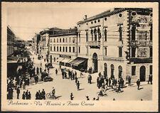 """""""Pordenone - via Mazzini e Piazza Cavour """" - viaggiata - 1937"""