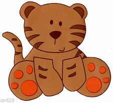 "4.5"" COCALO SAHARA JUNGLE TIGER NURSERY PREPASTED WALL BORDER CUT OUT"