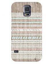Carcasa Galaxy S5 Efecto Madera 2 Azteca Étnico Rosa Blanco