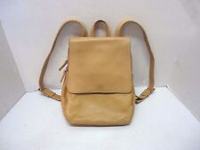 "Tignanello Beige / Tan Leather Backpack Style Organizer Purse 8"" x 10"" x 4"""