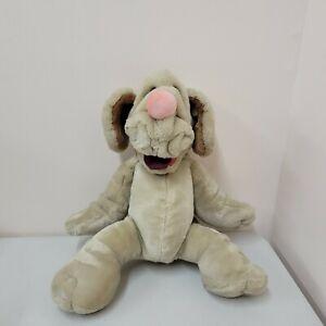 """Vintage  Ganz 1981 Wrinkles Tan  Dog Plush Hand Puppet  17"""""""
