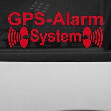 GPS Alarm System Red Mirrored for Window Display Window Sticker Tattoo