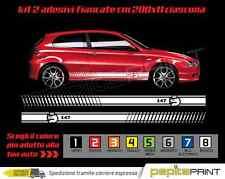 Adesivi fascia laterale bisce ALFA ROMEO 147 stickers MITO giulia fiancate