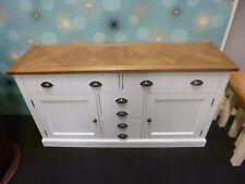 New Large Parquet Oak & White 2 Door 4 Drawer Sideboard *Furniture Store*