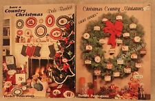 COUNTRY CHRISTMAS MINIATURES & HAVE A cross stitch booklets TWO Dale Burdett