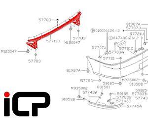Rear Bumper Support Beam Fits: Subaru Impreza 92-00 WRX STi GC GF