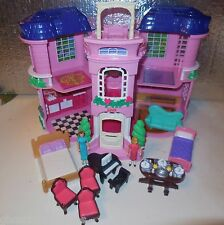 FISHER PRICE SWEET STREETS DOLL HOME VICTORIAN TOWNHOUSE MANSION BUILDING LOT