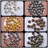 Gold Plated silver copper gun black Round Spacer Beads 4mm 5mm 6mm 8mm 10mm
