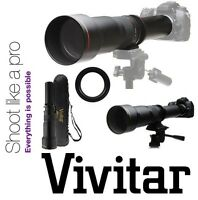 650-1300mm Vivitar Super Telephoto Zoom Lens For Nikon D3000 D3100 D3200 D3300