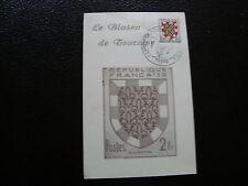 FRANCE - carte blason de touraine (cy57) french