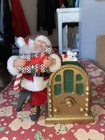 Vintage Holiday Creations Santa  Claus  Christmas Decoration Animated W Music