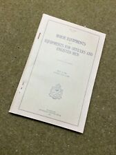 Manual (reprint) Horse Equipment and Equipment for Officers and Enlistedmen