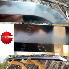 Full Handmade Clay tempered Folded Steel samurai sword Katana Blade Offer Custom