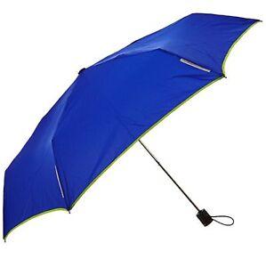 "Totes Light N'Go Trekker Umbrella Manual Open Blue/Yellow - 39"""