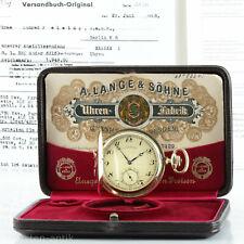 A. Lange & Söhne Goldsavonnette Taschenuhr Qualität 1A Originalbox & Papire 1938