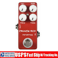 MOSKY CRUNCH RED Distortion Guitar Effect Pedal VOL GAIN PRESSURE TONE Button