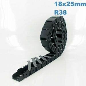 18x25mm R38 Nylon Energy Drag Chain Cable Wire Carrier CNC Router 3D Printer Mil