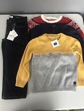 Janie and Jack Ralph Lauren Lot of 4 Sweaters Jeans Boys Size 4