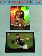 2011 Bowman + Platinum CHRIS SALE Rookie Lot x 2 RC   #35 220   Red Sox Batch