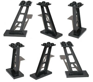 LEGO Black Support 2 x 4 x 5 Stanchion Inclined [PACK OF 6] train track castle +