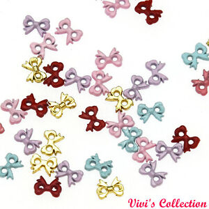Mini Buttons Dolls Tiny Clothes Scrapbooking Pearl White Pink Silver Gold Craft