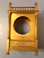 Antique French Mantle Clock Case Ornate Brass And Gilt Ornaments Restoration