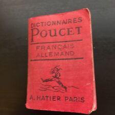 livre miniature dictionnaires poucet allemand francais