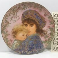"EDNA HIBEL ""CATHERINE AND HEATHER"" MOTHER'S DAY COLLECTORS PLATE 1541A- 1987"