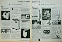 PUBLICITÉ DE PRESSE 1963 L'ART DE BIEN LAVER HOOVER AUTOMATIC - ASPIRO-BATTEUR