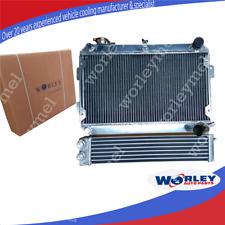 Aluminum radiator+Oil cooler for Mazda RX7 Series 1 2 3 S1 S2 S3 SA/FB 1979-1985