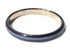 Bijou alliage argenté bracelet jonc lucite bleue bangle