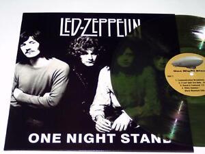 LED ZEPPELIN - ONE NIGHT STAND / LIVE 1969 - LP GREEN VINYL RARE CONCERT G392