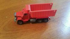 Hot wheels red peterbilt dump truck 1979 vintage metal with plastic